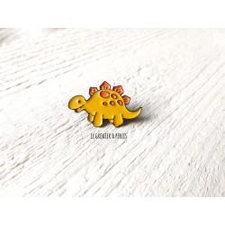 Pin's Dino Jaune * Pin's en émail