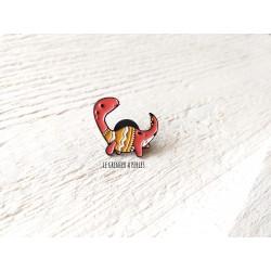 Pin's Dino en pyj * Pin's en émail