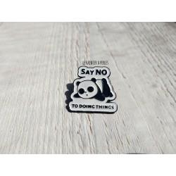 Pin's Panda Say no to doing things