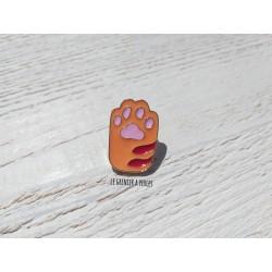 Pin's Patte de chat Orange