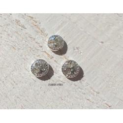 1 Perle Métal 12 mm * Arbre * Argent