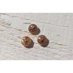 1 Perle Métal 12 mm * Arbre * Or 14 K