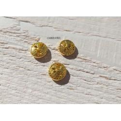 1 Perle Métal 12 mm * Arbre * Or 18 K