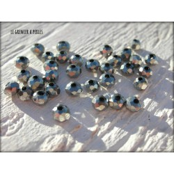 Perles Abacus 3 mm Argent X 50