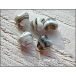 Perle COEUR 12 mm NOIR