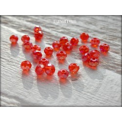 Perles Abacus 3 mm Red AB X 50