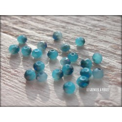 Perles Abacus 3 mm Saphir Irisé X 50