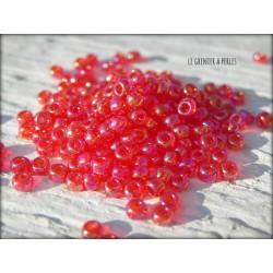 Rocailles MIYUKI 11/0 Transparent Red AB ( 0254 )