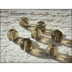 Perles Rondes 6 mm gris X 10