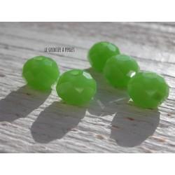 Perles ABACUS 10 mm OLIVINE OPAQUE x 5