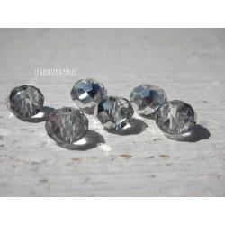 Perles ABACUS 8 mm Dark Crystal AB X 10
