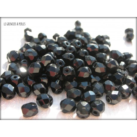 Facettes 4 mm BLACK / JET ( 23980 )