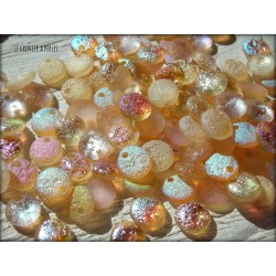 Lentilles 6 mm Crystal yellow rainbow 98581