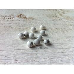 Perles Howlite Blanc Mat 6 mm X 10