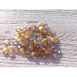 Lentilles 6 mm Etched Crystal Lemon Rainbow ( 98584 )