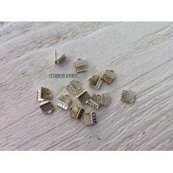 Embout Pince Lacet Argenté 6 mm