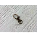 Mousqueton Porte Clé *  Bronze 37 x 13 mm