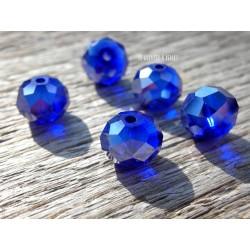 Perles ABACUS 10 mm Cobalt AB x 5