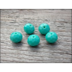 Perles ABACUS 10 mm Green Turquoise x 5