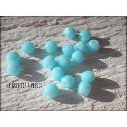 Facettes de Bohème 4 mm Turquoise Pastel X 50