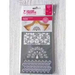 """Pochoir Pâte Polymère """" PAON """""""