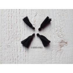 Petit Pompon ( fils de coton ) Noir