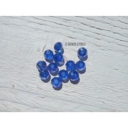 Perles ABACUS 8 mm Bleu Cobalt AB X 10