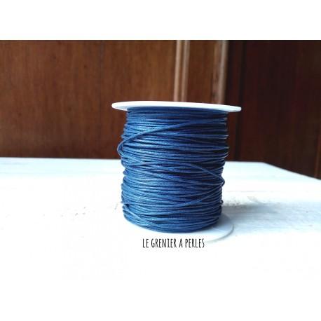 Coton Ciré Bleu Marine x 5 mètres