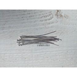 Clous tête plate 8 cm Argenté X 50